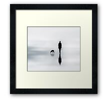 one man and his dog Framed Print