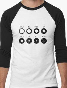 F-stops - Black Men's Baseball ¾ T-Shirt