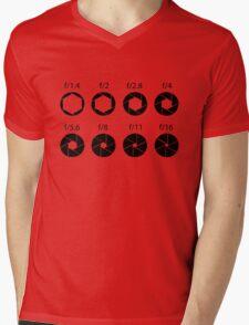 F-stops - Black Mens V-Neck T-Shirt