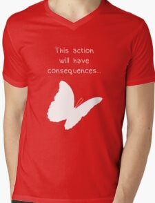 """Life is Strange - """"This action will have consequences..."""" Mens V-Neck T-Shirt"""