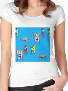 movie popcorn Women's Fitted Scoop T-Shirt