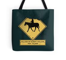 Headless Horseman Sign Tote Bag