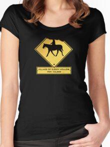Headless Horseman Sign Women's Fitted Scoop T-Shirt