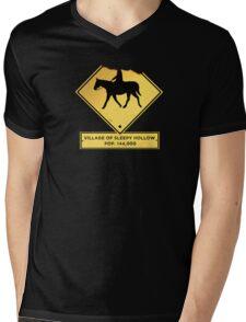 Headless Horseman Sign Mens V-Neck T-Shirt