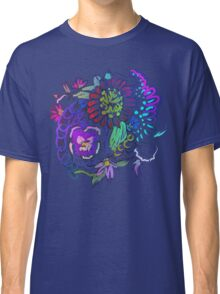 RETRO-Psychedelic Floral Classic T-Shirt