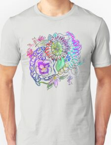 RETRO-Psychedelic Floral Unisex T-Shirt