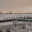 The pier the snow... by LisaBeth