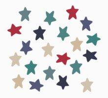 Blue grey stars One Piece - Short Sleeve