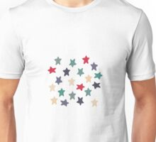 Blue grey stars Unisex T-Shirt