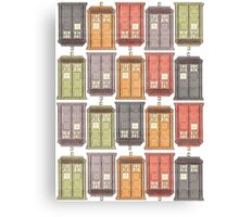 Assorted Police Boxes Canvas Print