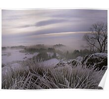 The Lake District: Frozen Grasses on Post Knott. Poster