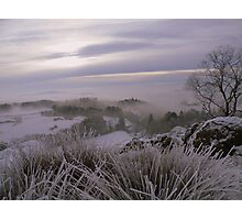 The Lake District: Frozen Grasses on Post Knott. Photographic Print