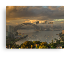 Loneliness - Moods Of A City, Sydney Harbour - The HDR Experience Canvas Print