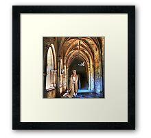 poetry in the cloister... Framed Print