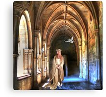 poetry in the cloister... Canvas Print