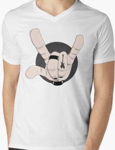 Metal Hand Mens V-Neck T-Shirt