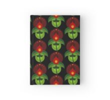 Stylized Flower Motif Hardcover Journal