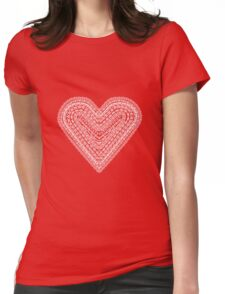Lace Heart Womens Fitted T-Shirt