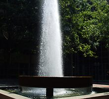 Downtown Greenville South Carolina. Fountain on Street. by Karen L Ramsey