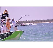 Team SignZoo Practicing for Tarpon Tournament Photographic Print