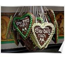 Traditional gingerbreads, Erlangen, Germany. Poster