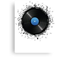 33 Vinyl Record Music Notes Canvas Print
