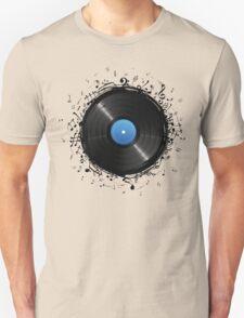 33 Vinyl Record Music Notes Unisex T-Shirt