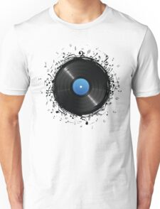 33 Vinyl Record Music Notes Unisex T-Shirt