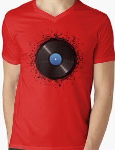 33 Vinyl Record Music Notes Mens V-Neck T-Shirt