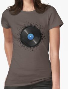 33 Vinyl Record Music Notes Womens Fitted T-Shirt