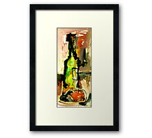a bottle can kill you! Framed Print
