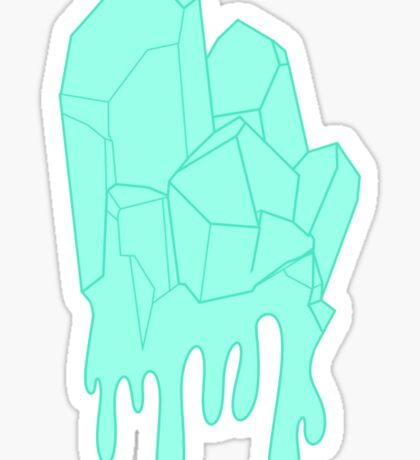 Melty Ice Crystal Sticker