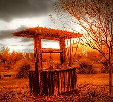 Wishing Well on fire by raaronreynolds