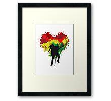 Bob Marley Dreadlock Rasta Heart Framed Print
