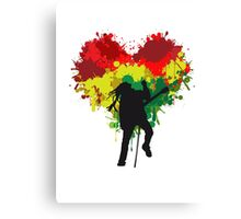 Bob Marley Dreadlock Rasta Heart Canvas Print