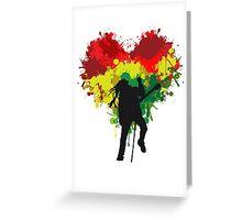 Bob Marley Dreadlock Rasta Heart Greeting Card