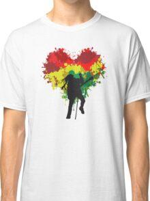 Bob Marley Dreadlock Rasta Heart Classic T-Shirt