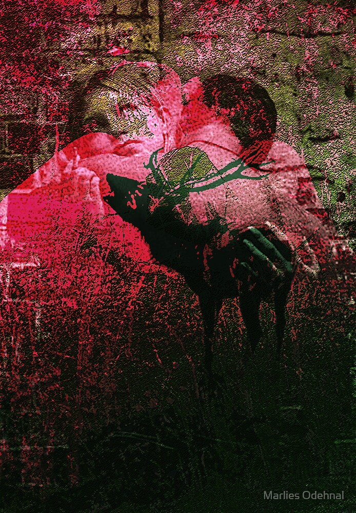 The lovers and the deer by Marlies Odehnal