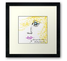 Let Your Hair Down...Moody Saturday Framed Print