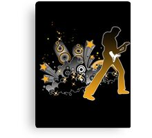 Classic Rock Guitar Player Canvas Print