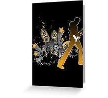 Classic Rock Guitar Player Greeting Card