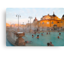 Széchenyi medicinal baths III Canvas Print