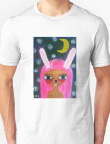 Two Harbors Bunny-Girl Unisex T-Shirt