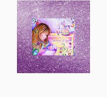 Carousel Dreams Soft Purple Faux Sparkle Texture Unisex T-Shirt