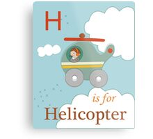 H is for Helicopter Metal Print