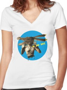 F.O.T public 001 Women's Fitted V-Neck T-Shirt
