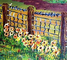 De-Fence............ of............... Flowers............. by WhiteDove Studio kj gordon