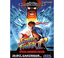 Street Fighter II Mega Drive Cover Photographic Print