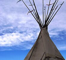 CANVAS TEEPEE AT FT VASQUEZ by dragonindenver