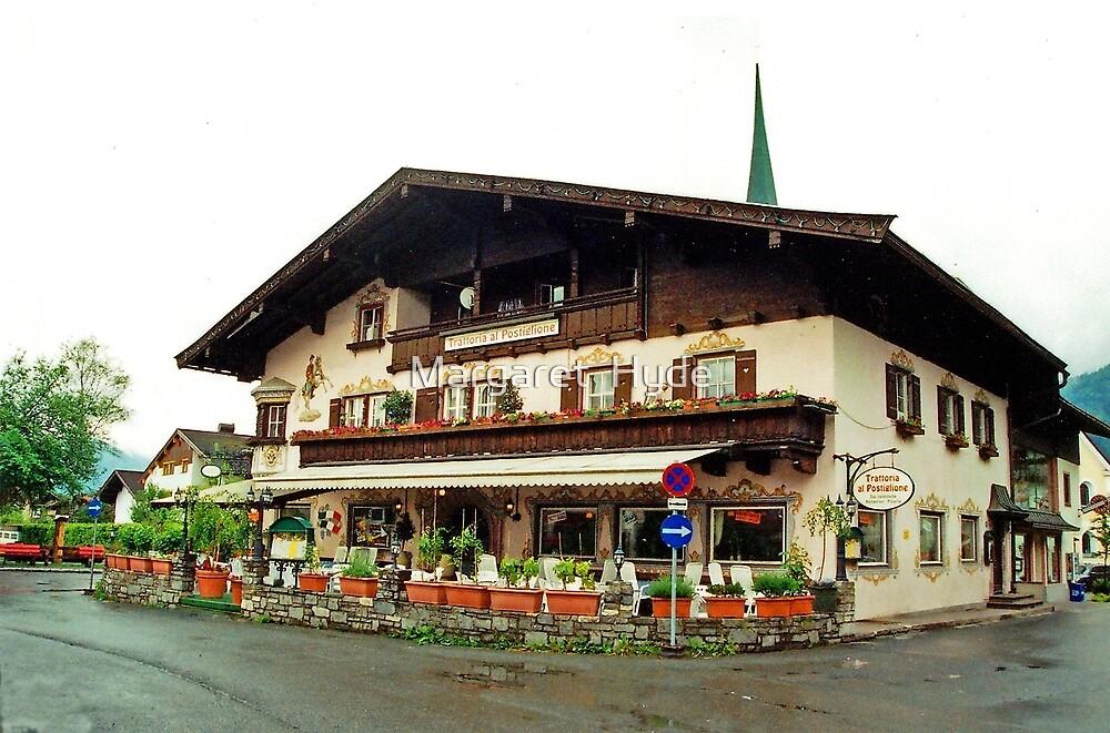 Trattoria at Kossen, Austria by Margaret  Hyde